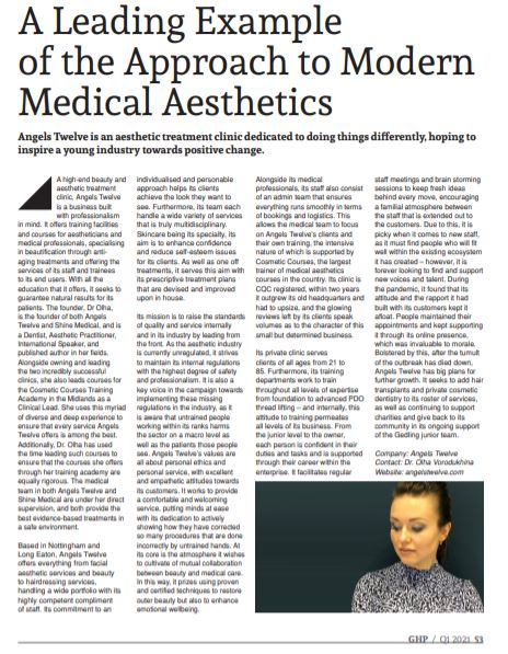 A Leading Example  of the Approach to Modern Medical Aesthetics